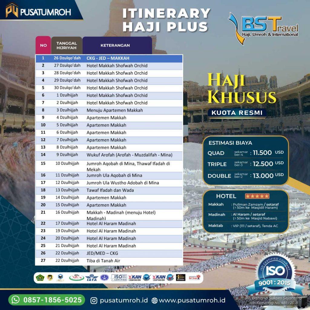 Itinerary Haji Khusus ONH Plus Kuota Resmi